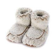 Warmies Cozy Plush Beige Marshmallow Microwaveable Boots